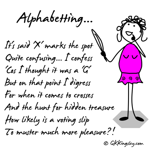 Alphabetting... by GK Kingsley - Pick-me-up Pearls and Humorous Verse