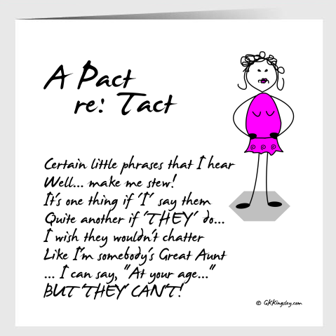 A Pact Re: Tact  Greetings Card by GK Kingsley