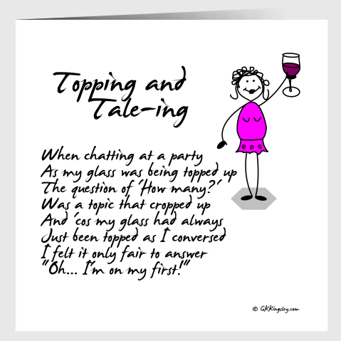 Topping & Tale-ing  Greetings Card by GK Kingsley