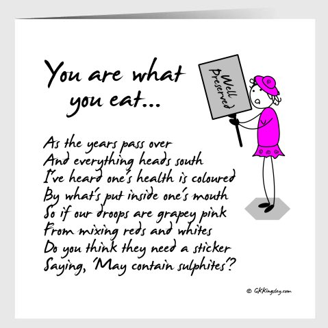 You are what you eat...  Greetings Card by GK Kingsley