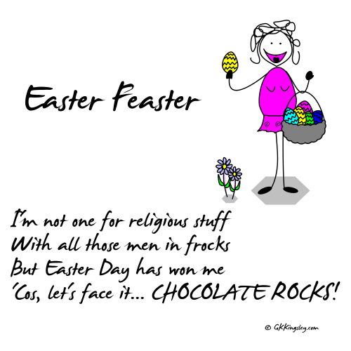 Easter Feaster by GK Kingsley - Pick-me-up Pearls and Humorous Verse