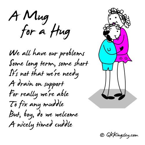 A Mug for a Hug by GK Kingsley - Pick-me-up Pearls and Humorous Verse