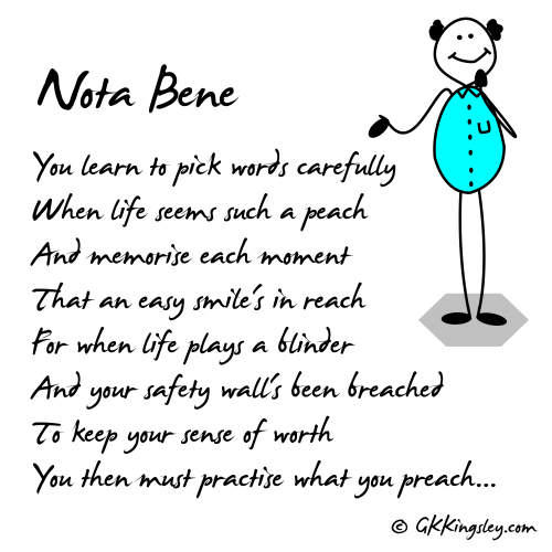 Nota Bene by GK Kingsley - Pick-me-up Pearls and Thought Provoking Verse