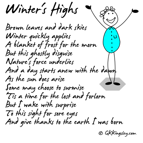 Winter's Highs by GK Kingsley - Pick-me-up Pearls and Thought Provoking Verse